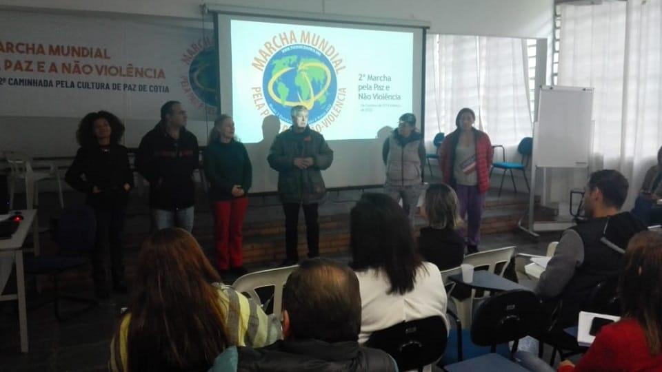 The World March dibentangkan di Carapicuiba