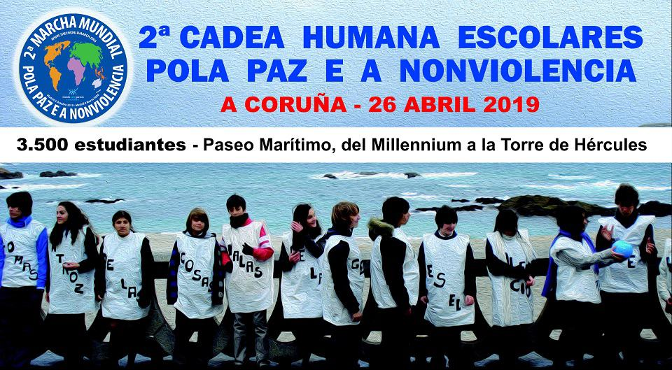 3.500 escolares por la Paz y la No violencia en A Coruña